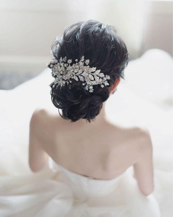 tóc cô dâu đẹp hàn quốc